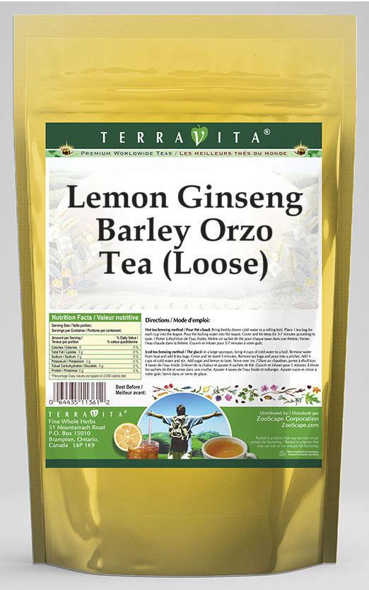 Lemon Ginseng Barley Orzo Tea (Loose)