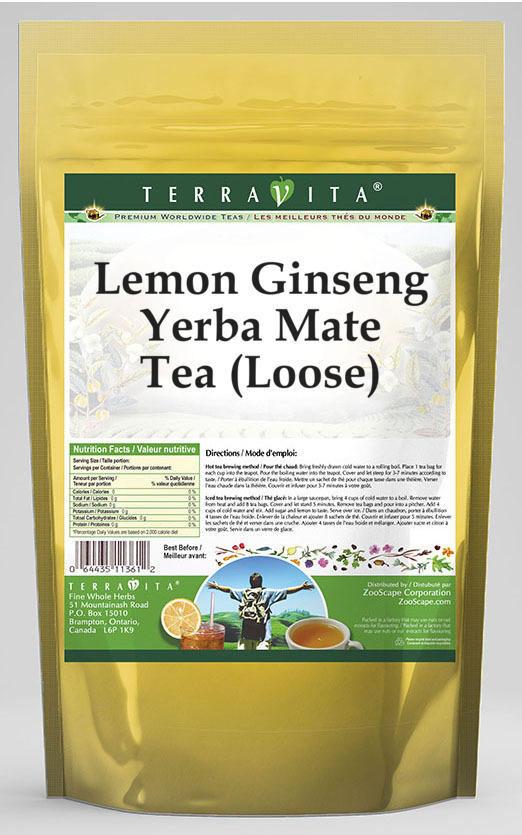 Lemon Ginseng Yerba Mate Tea (Loose)