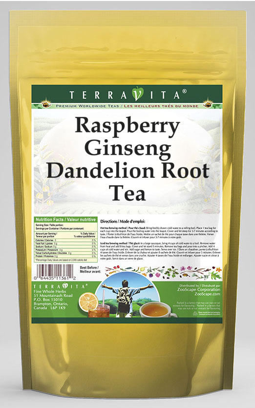 Raspberry Ginseng Dandelion Root Tea