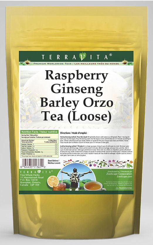 Raspberry Ginseng Barley Orzo Tea (Loose)