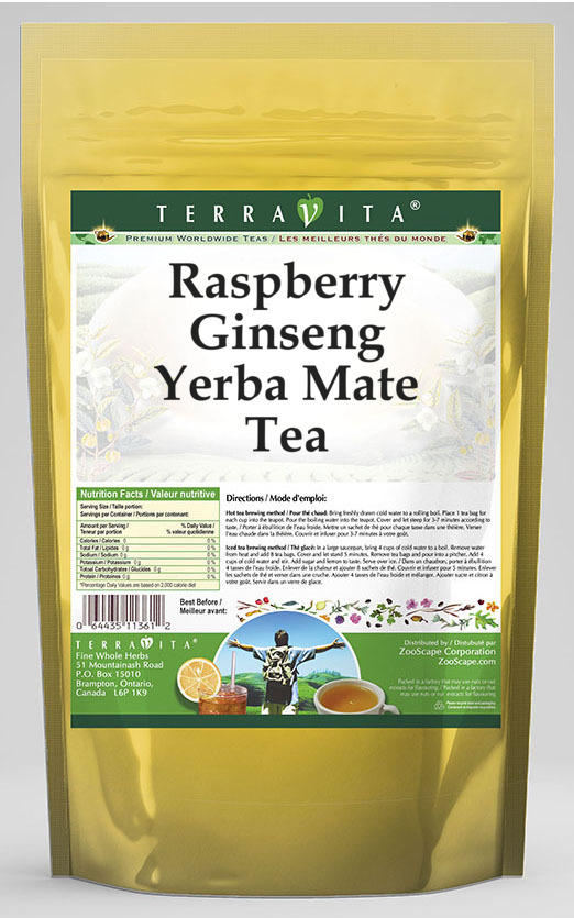 Raspberry Ginseng Yerba Mate Tea