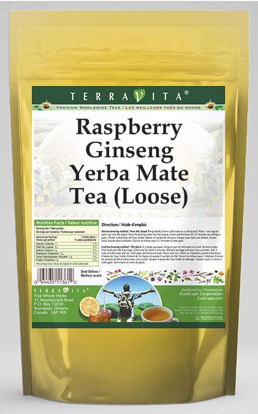 Raspberry Ginseng Yerba Mate Tea (Loose)