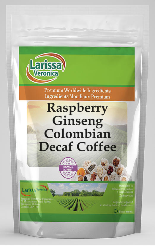 Raspberry Ginseng Colombian Decaf Coffee
