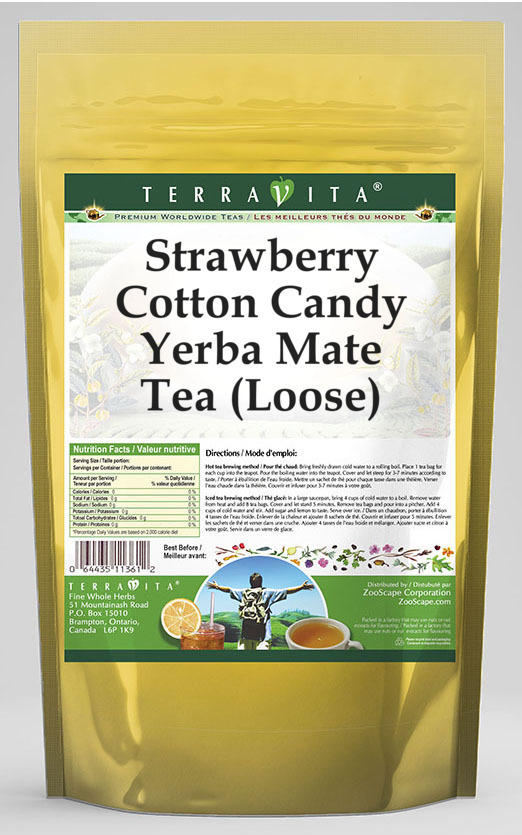 Strawberry Cotton Candy Yerba Mate Tea (Loose)