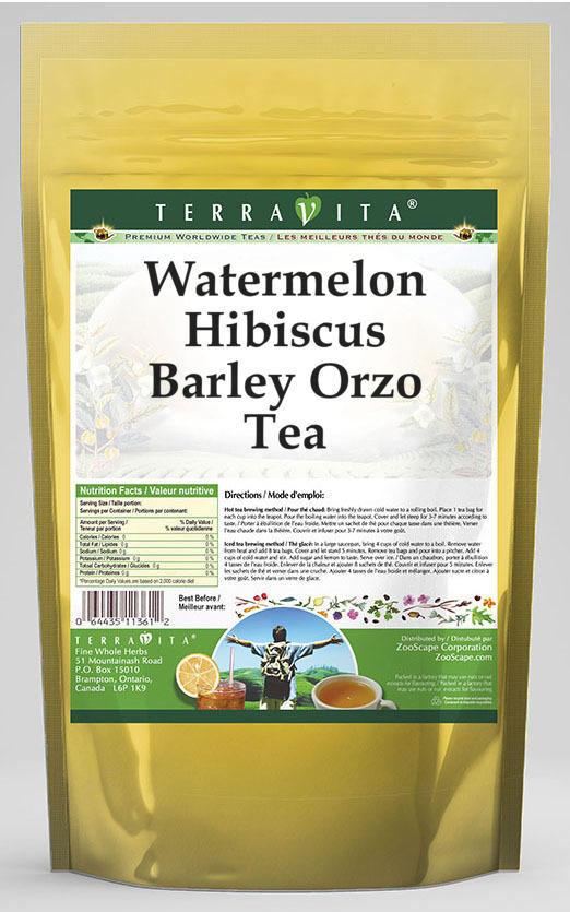 Watermelon Hibiscus Barley Orzo Tea