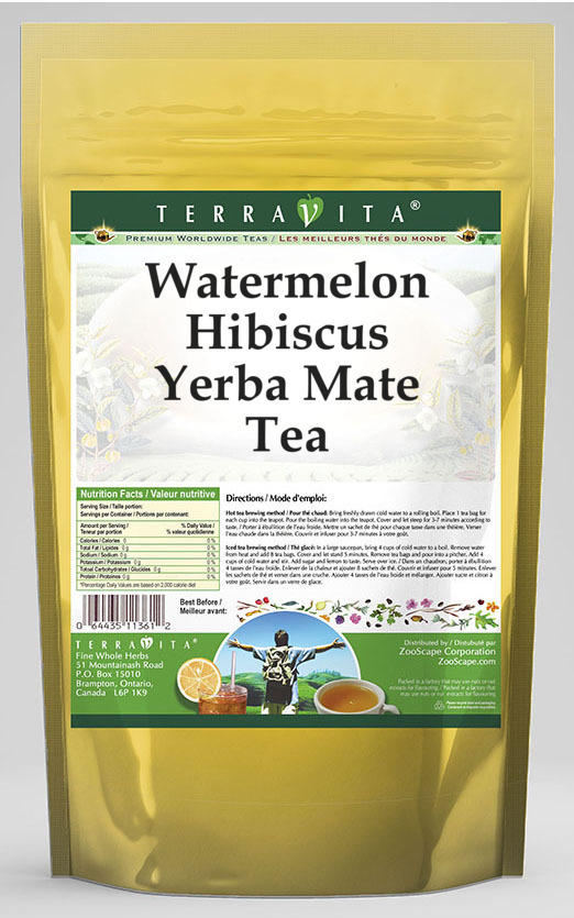 Watermelon Hibiscus Yerba Mate Tea