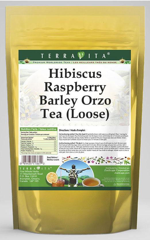 Hibiscus Raspberry Barley Orzo Tea (Loose)