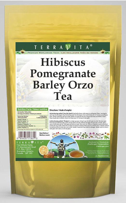 Hibiscus Pomegranate Barley Orzo Tea