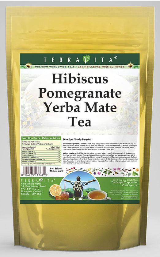Hibiscus Pomegranate Yerba Mate Tea