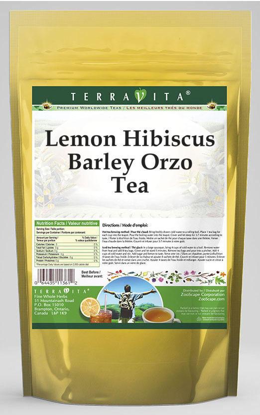 Lemon Hibiscus Barley Orzo Tea