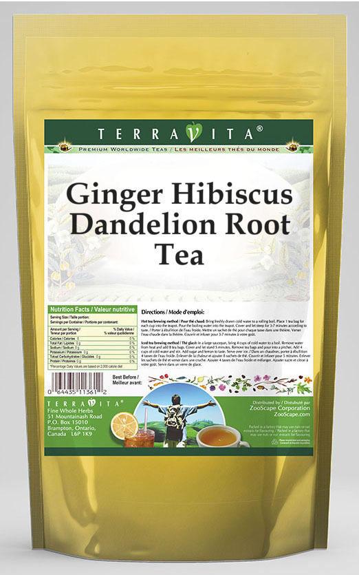 Ginger Hibiscus Dandelion Root Tea