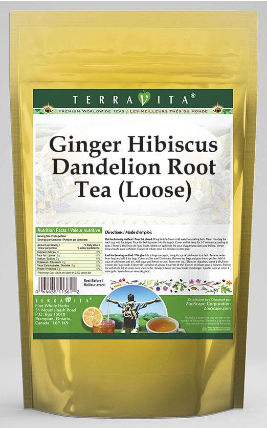 Ginger Hibiscus Dandelion Root Tea (Loose)