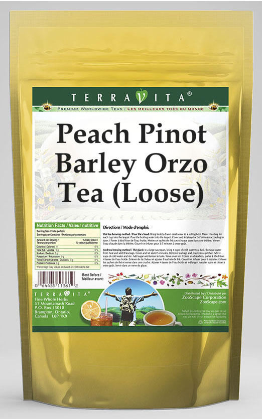 Peach Pinot Barley Orzo Tea (Loose)