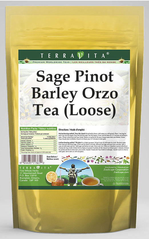 Sage Pinot Barley Orzo Tea (Loose)