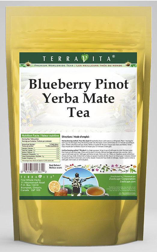 Blueberry Pinot Yerba Mate Tea