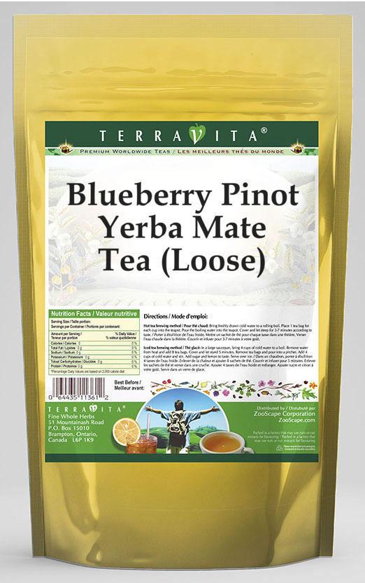 Blueberry Pinot Yerba Mate Tea (Loose)