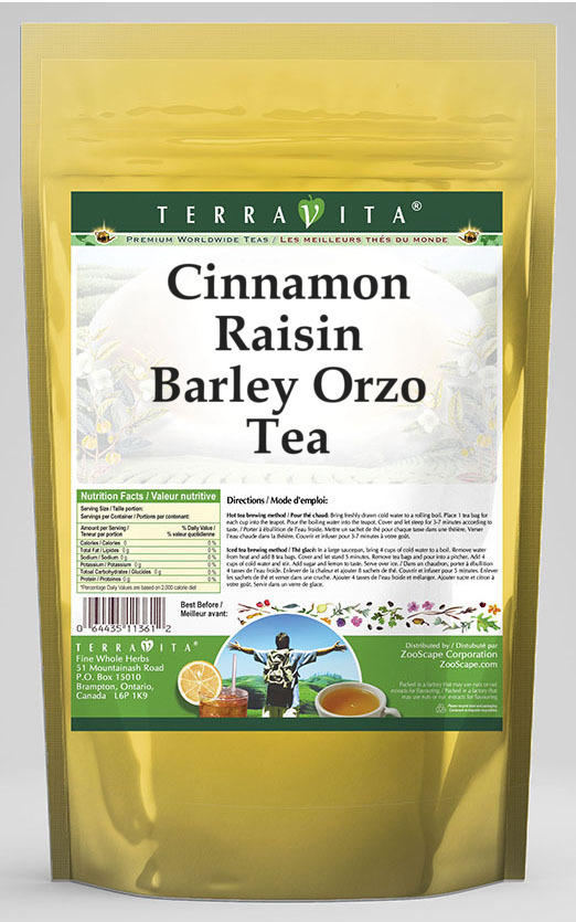 Cinnamon Raisin Barley Orzo Tea