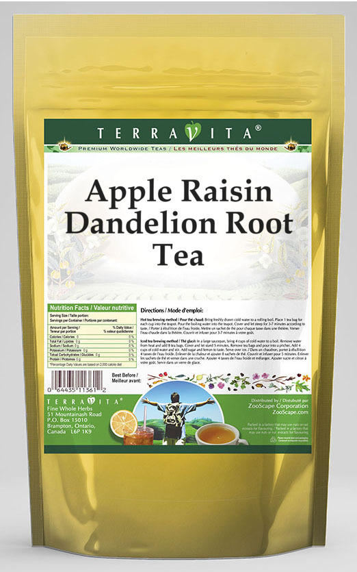 Apple Raisin Dandelion Root Tea