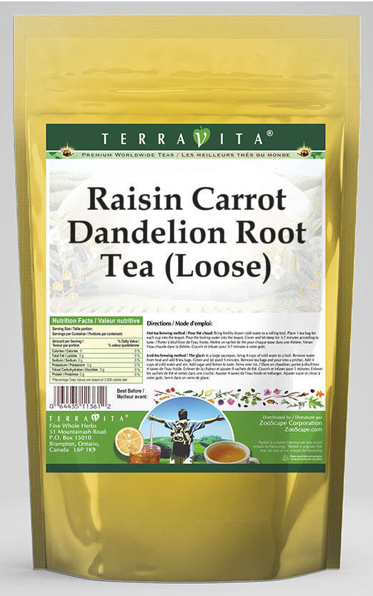 Raisin Carrot Dandelion Root Tea (Loose)