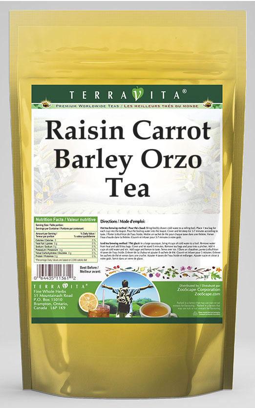 Raisin Carrot Barley Orzo Tea