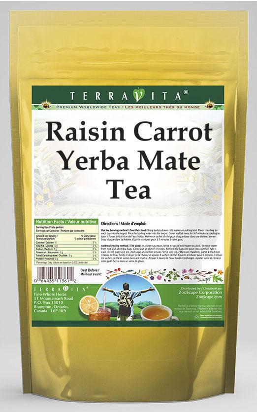 Raisin Carrot Yerba Mate Tea