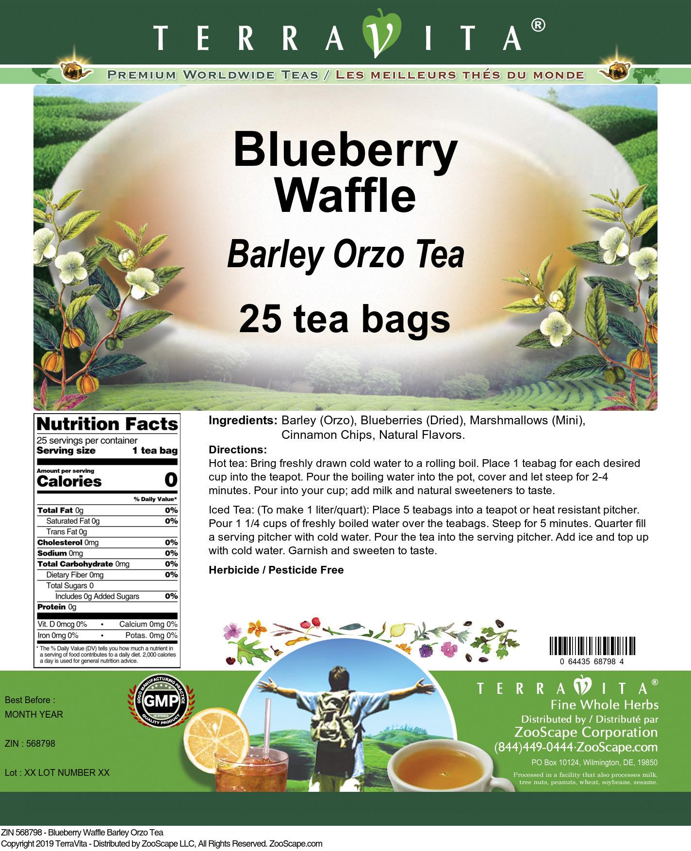 Blueberry Waffle Barley Orzo Tea