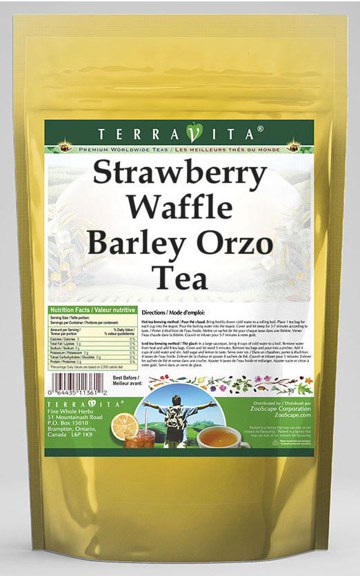 Strawberry Waffle Barley Orzo Tea