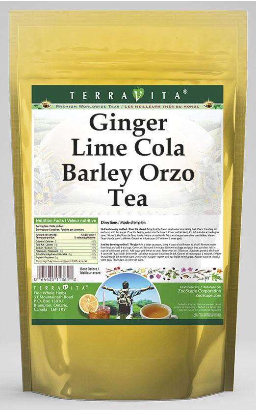 Ginger Lime Cola Barley Orzo Tea