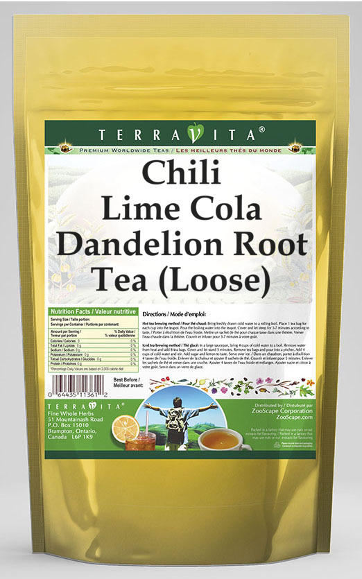 Chili Lime Cola Dandelion Root Tea (Loose)