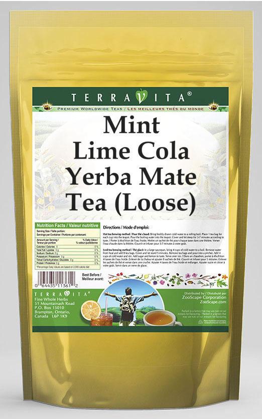 Mint Lime Cola Yerba Mate Tea (Loose)
