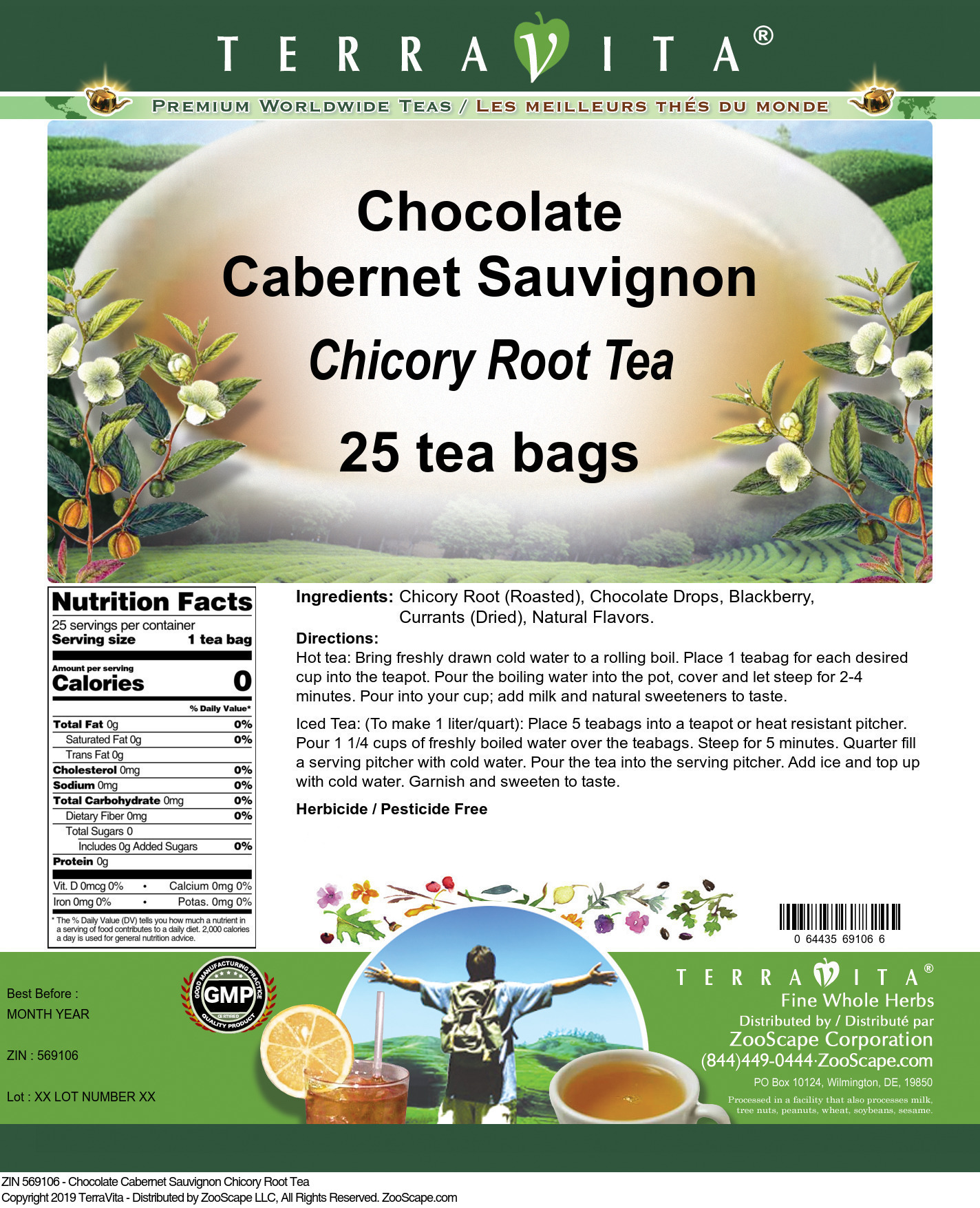 Chocolate Cabernet Sauvignon Chicory Root