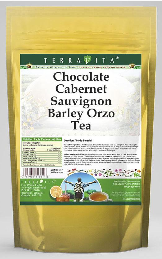 Chocolate Cabernet Sauvignon Barley Orzo Tea