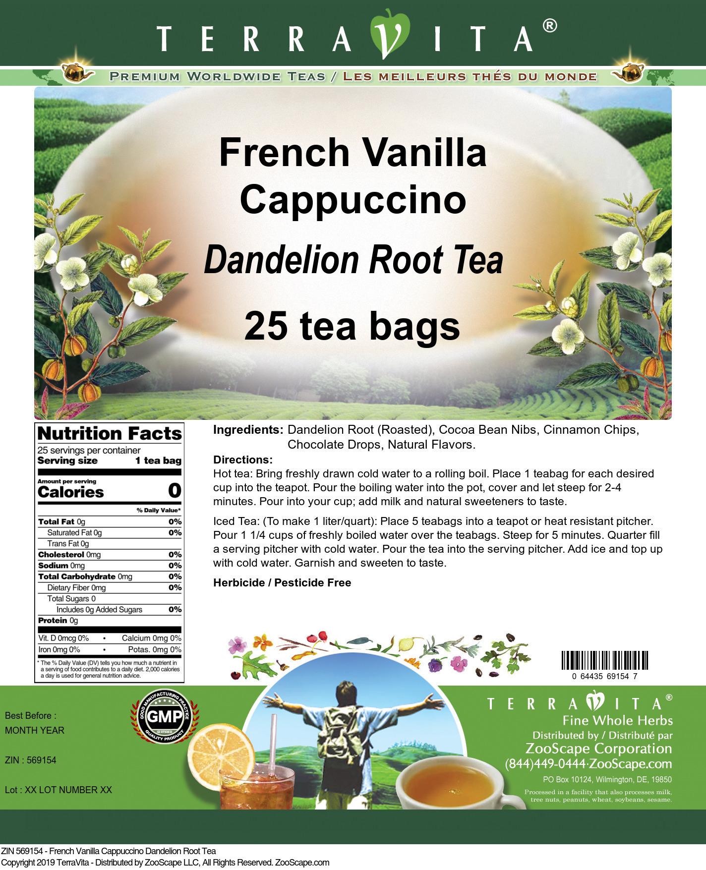 French Vanilla Cappuccino Dandelion Root Tea