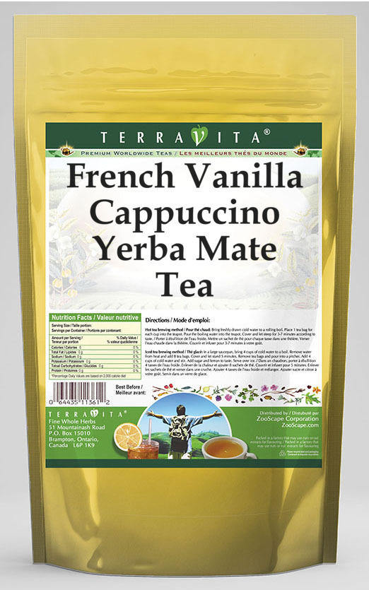 French Vanilla Cappuccino Yerba Mate Tea
