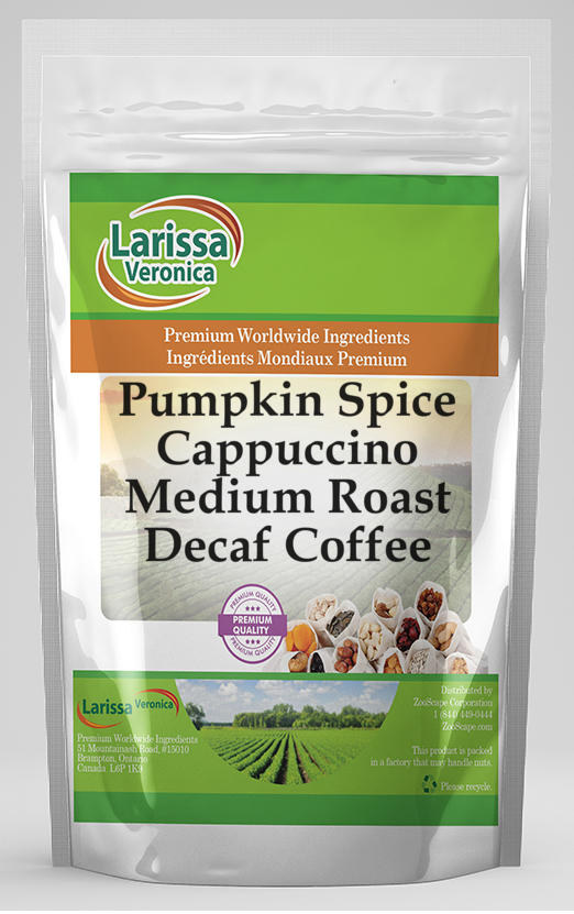 Pumpkin Spice Cappuccino Medium Roast Decaf Coffee