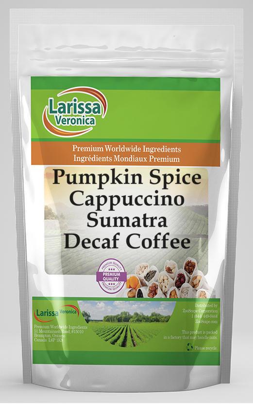 Pumpkin Spice Cappuccino Sumatra Decaf Coffee
