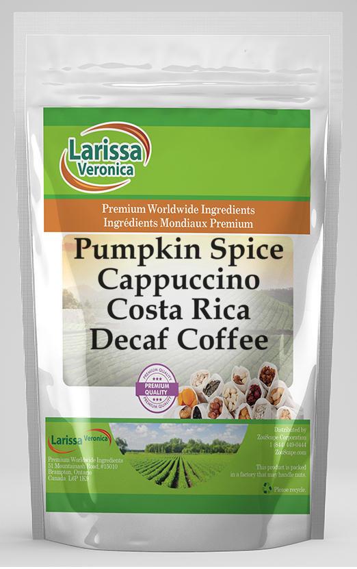 Pumpkin Spice Cappuccino Costa Rica Decaf Coffee