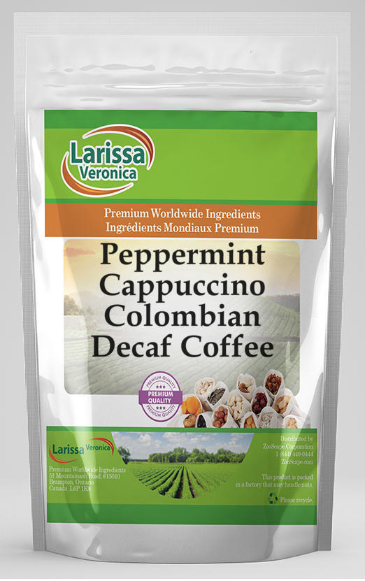 Peppermint Cappuccino Colombian Decaf Coffee
