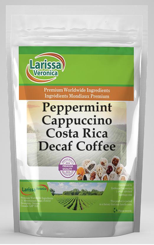 Peppermint Cappuccino Costa Rica Decaf Coffee