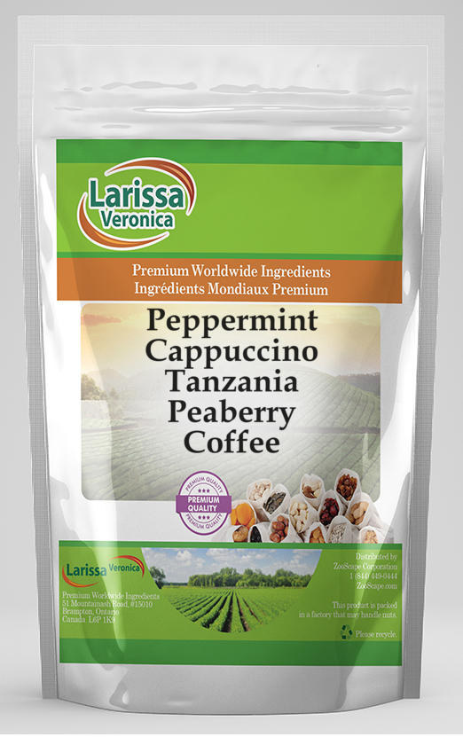 Peppermint Cappuccino Tanzania Peaberry Coffee
