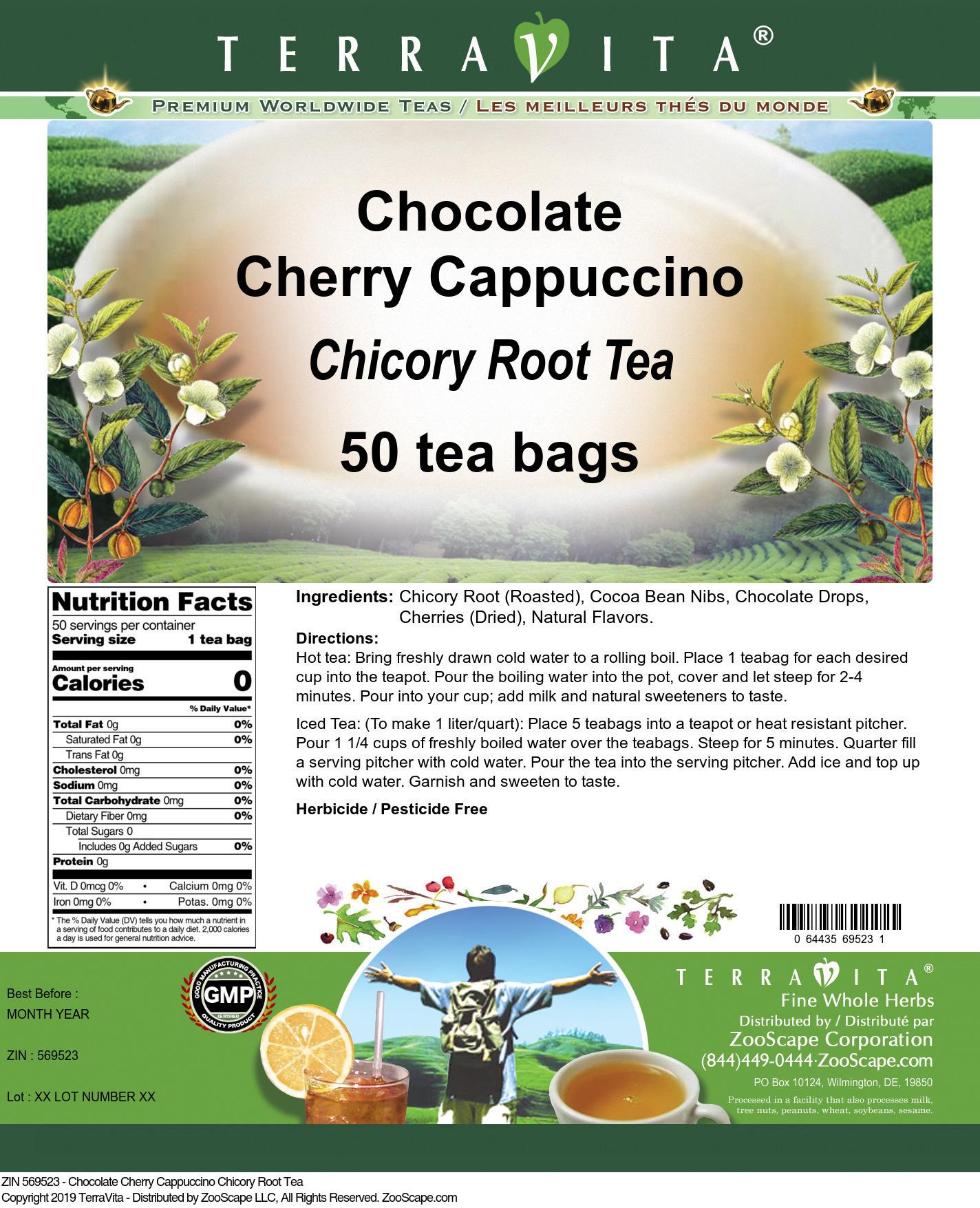 Chocolate Cherry Cappuccino Chicory Root Tea