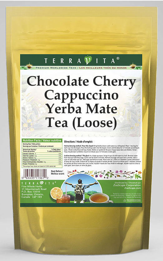 Chocolate Cherry Cappuccino Yerba Mate Tea (Loose)