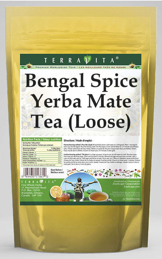 Bengal Spice Yerba Mate Tea (Loose)