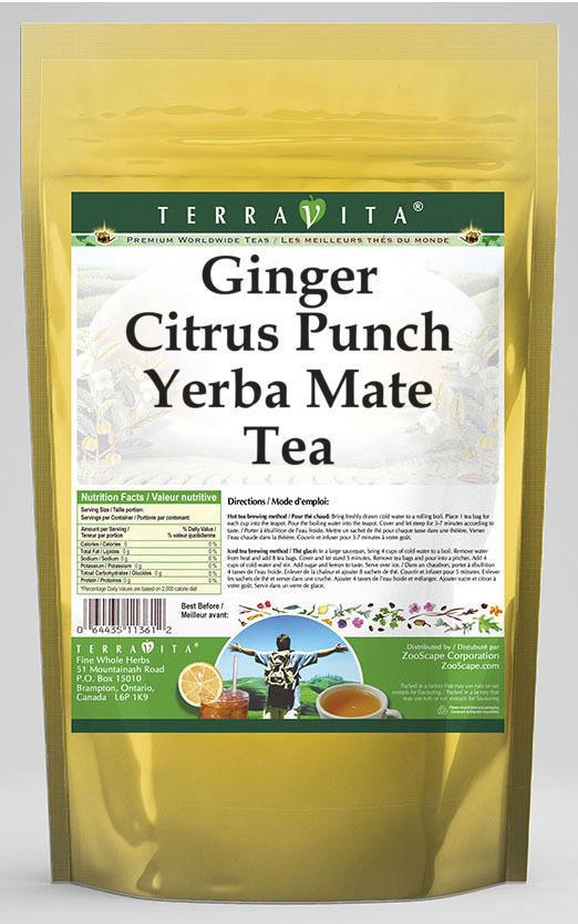 Ginger Citrus Punch Yerba Mate Tea