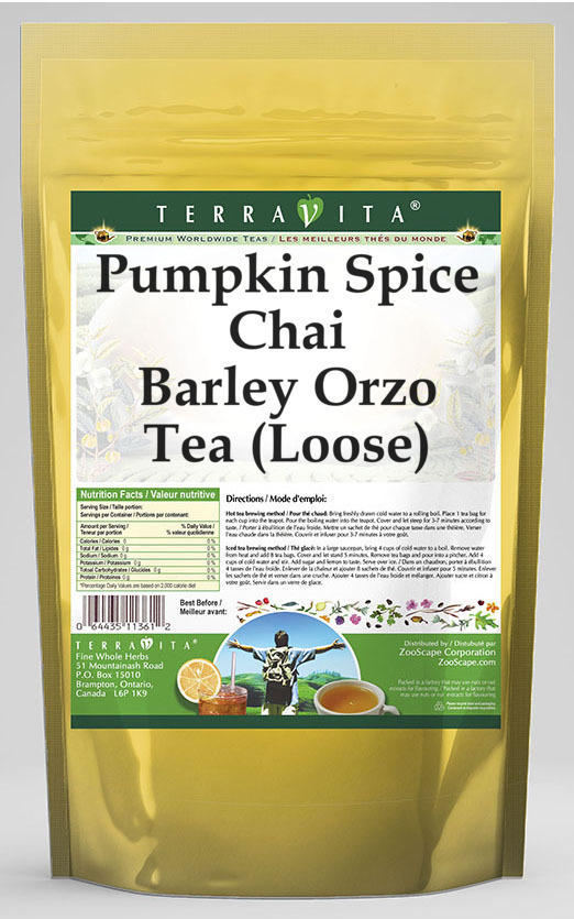 Pumpkin Spice Chai Barley Orzo Tea (Loose)