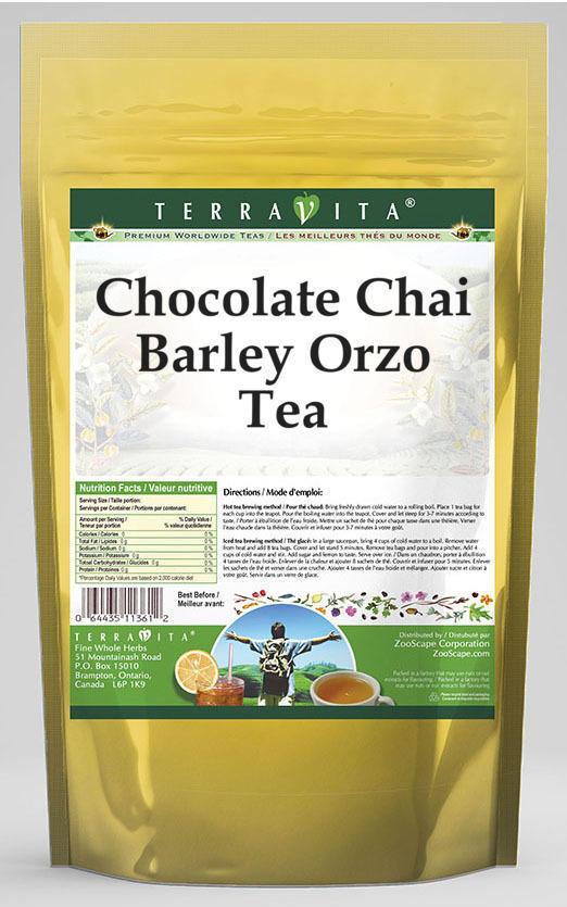 Chocolate Chai Barley Orzo Tea