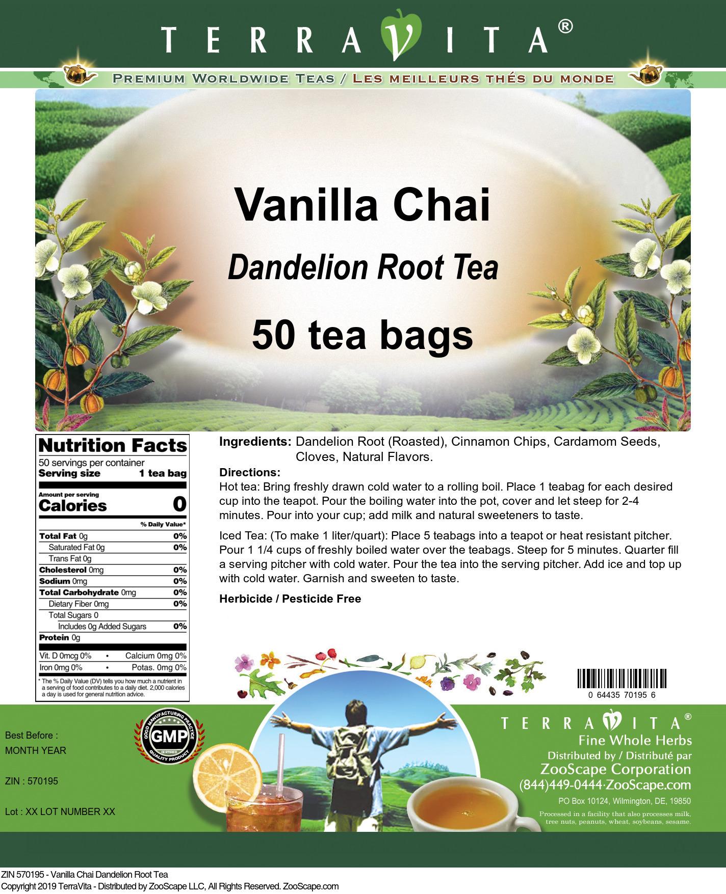 Vanilla Chai Dandelion Root Tea