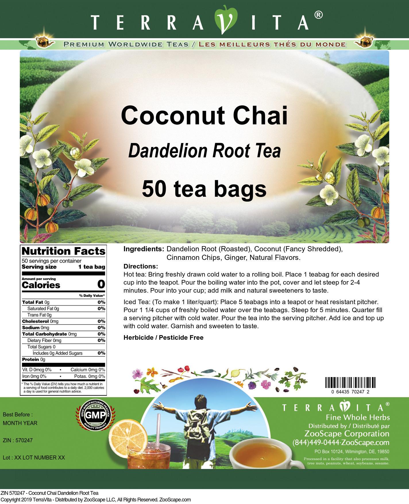 Coconut Chai Dandelion Root Tea