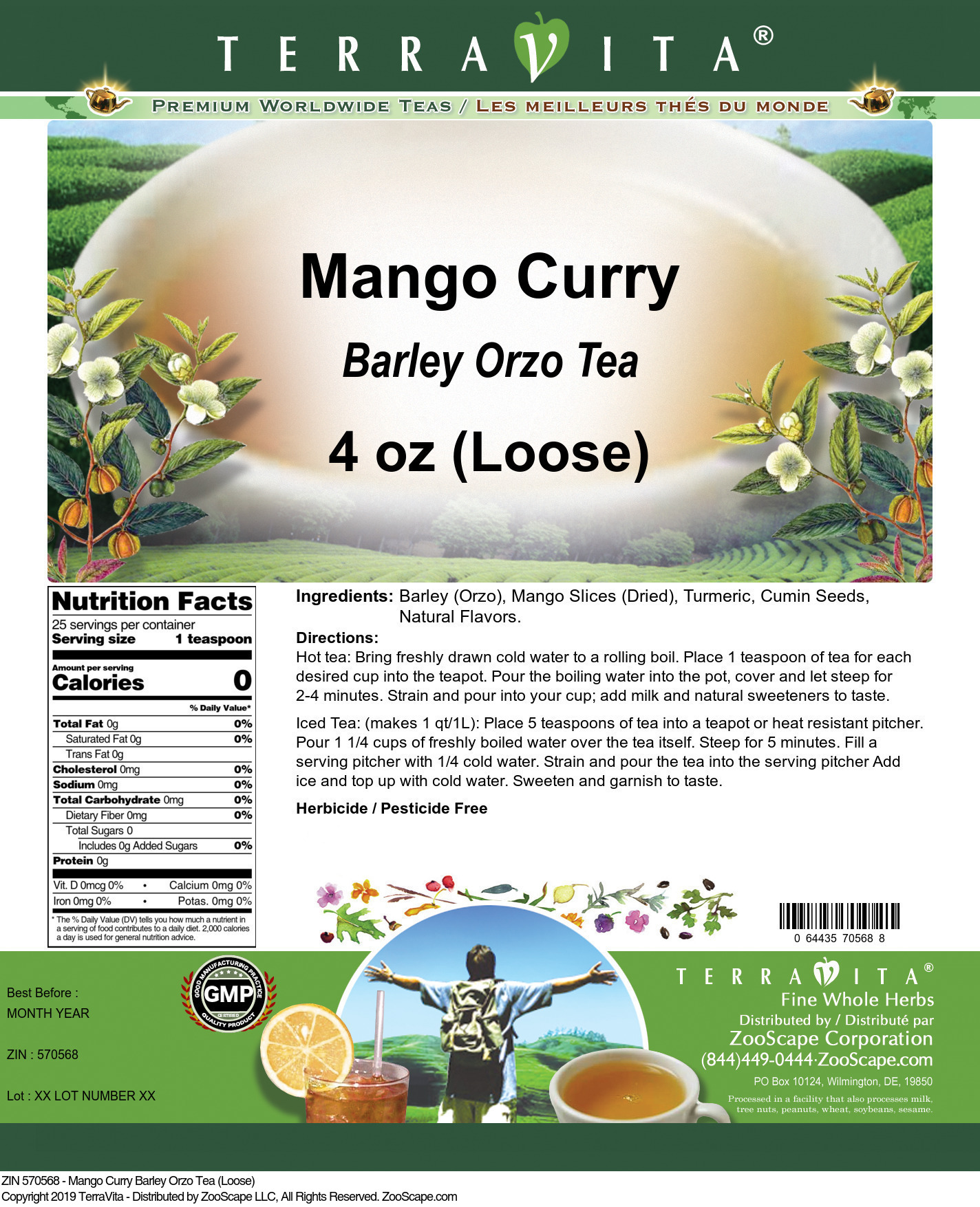 Mango Curry Barley Orzo Tea (Loose)