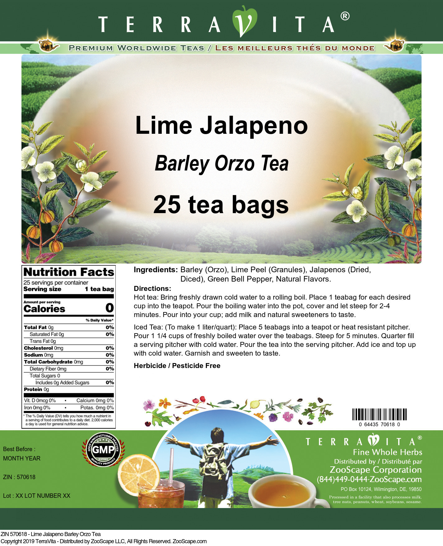 Lime Jalapeno Barley Orzo Tea